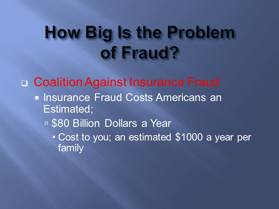 How Big Is the Problem of Fraud