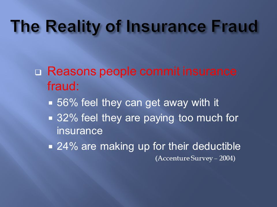 The Reality of Insurance Fraud
