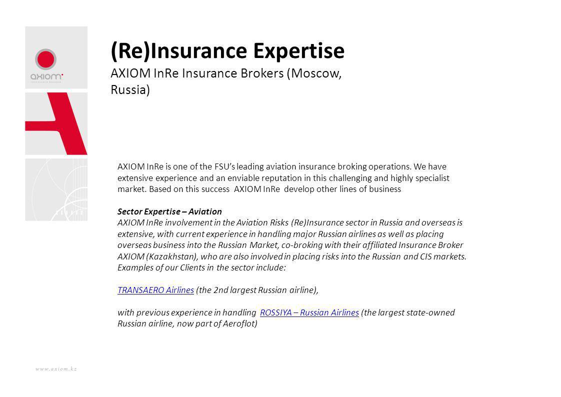 (Re)Insurance Expertise