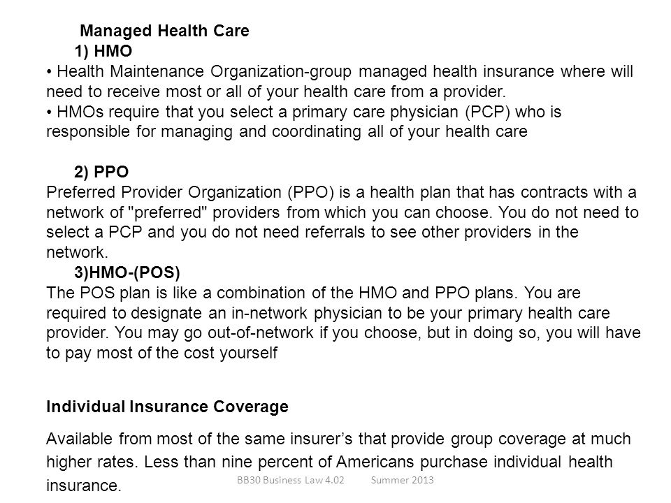 Individual Insurance Coverage