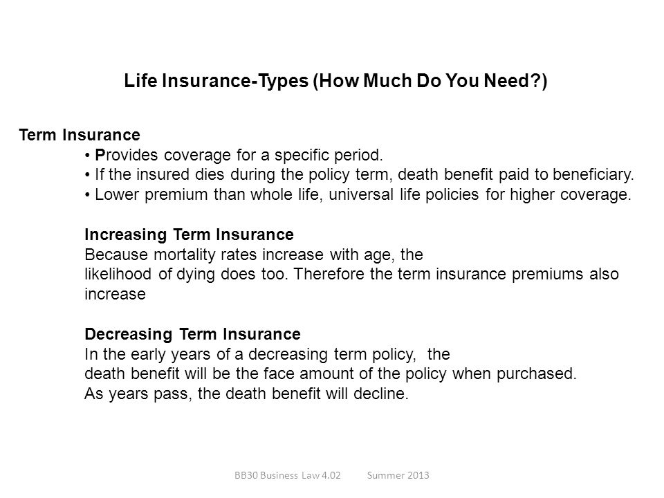 Life Insurance-Types (How Much Do You Need )