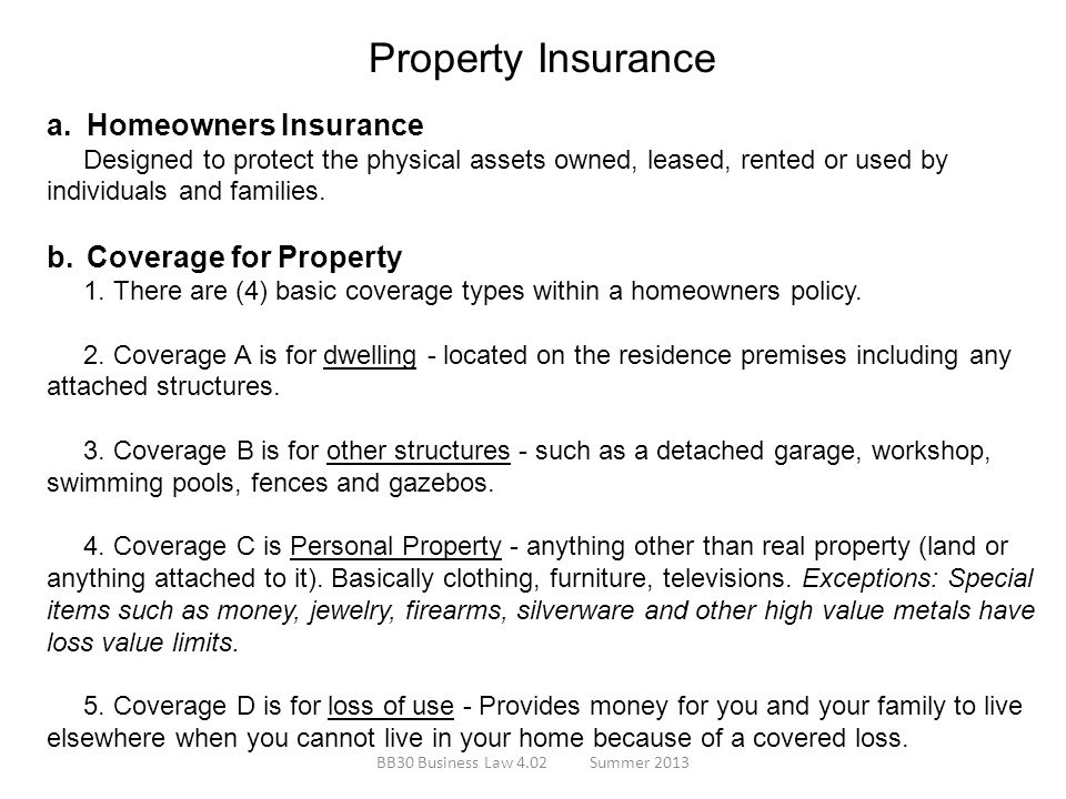 Property Insurance Homeowners Insurance Coverage for Property
