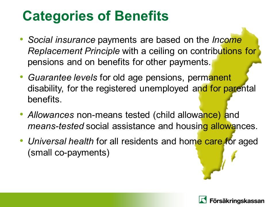 Categories of Benefits