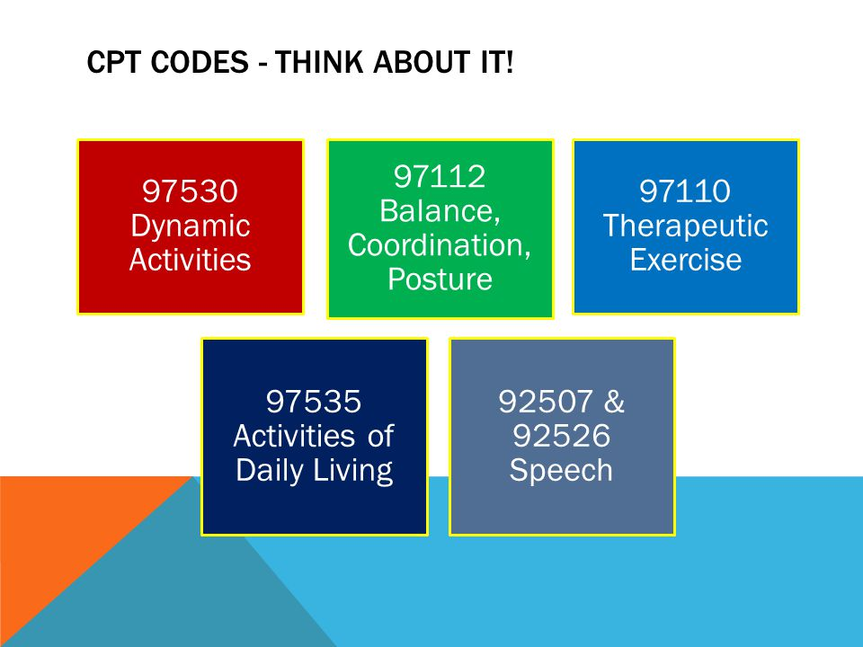 CPT CODES - Think about it!