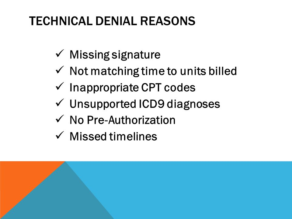 Technical Denial Reasons