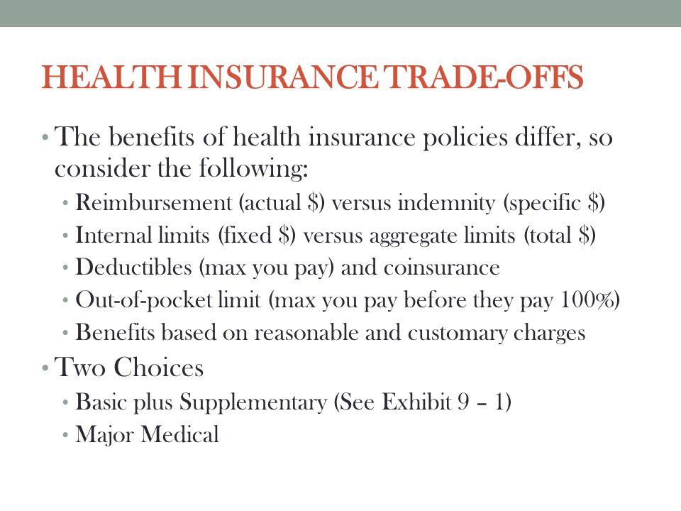 HEALTH INSURANCE TRADE-OFFS