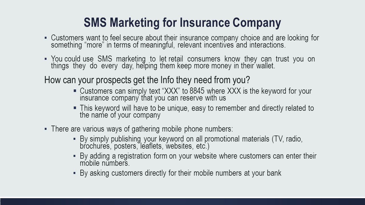 SMS Marketing for Insurance Company