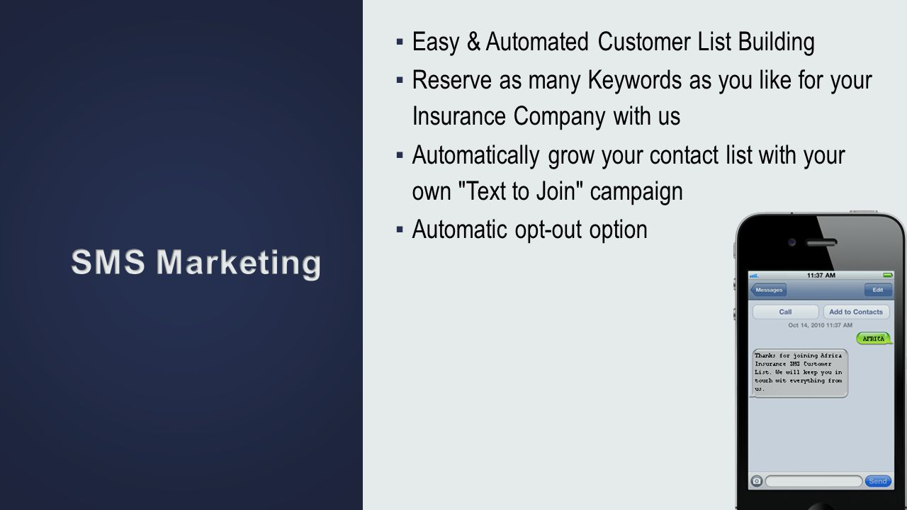 SMS Marketing Easy & Automated Customer List Building
