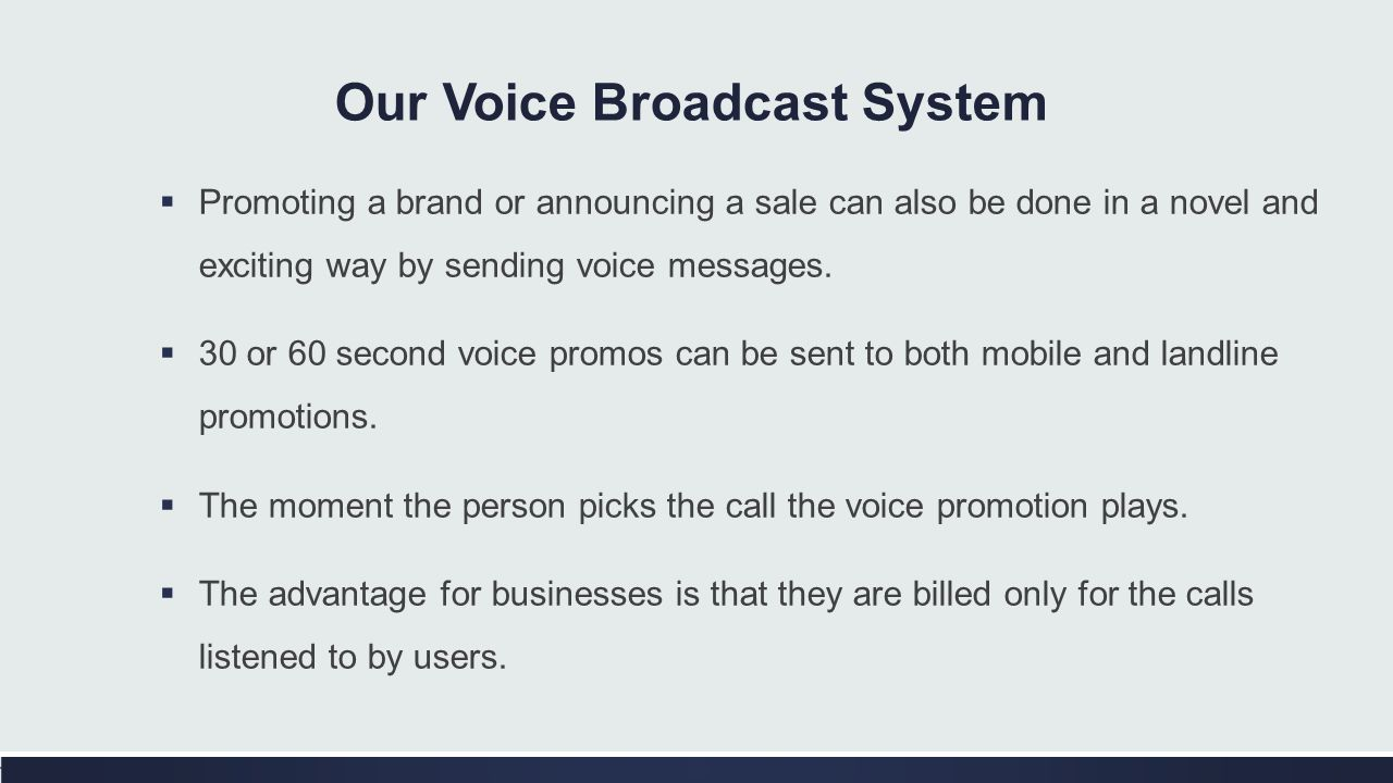 Our Voice Broadcast System