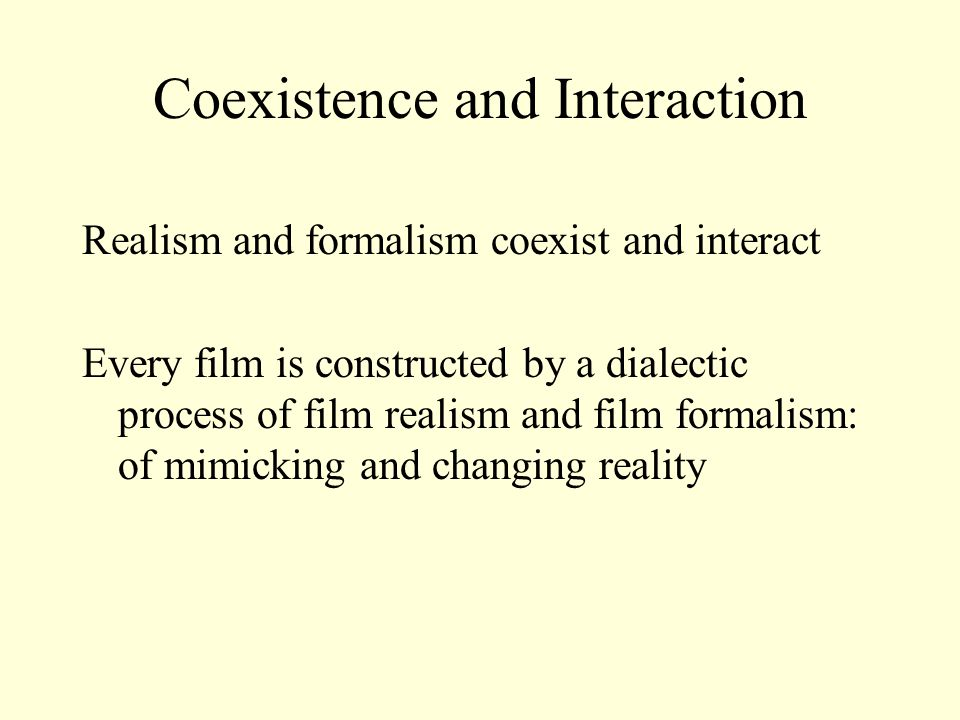 Coexistence and Interaction