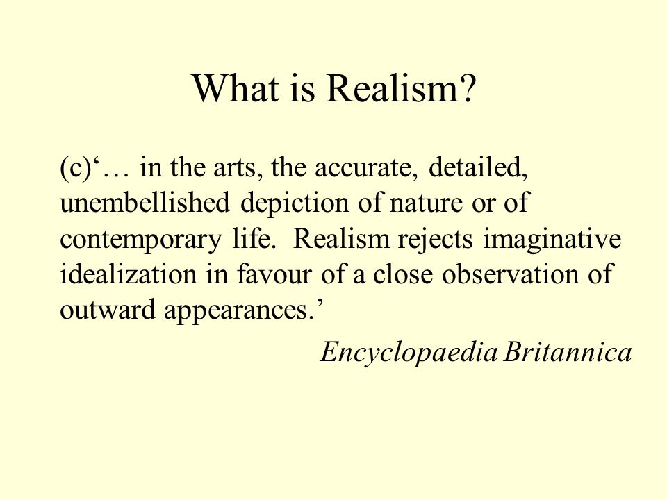 What is Realism