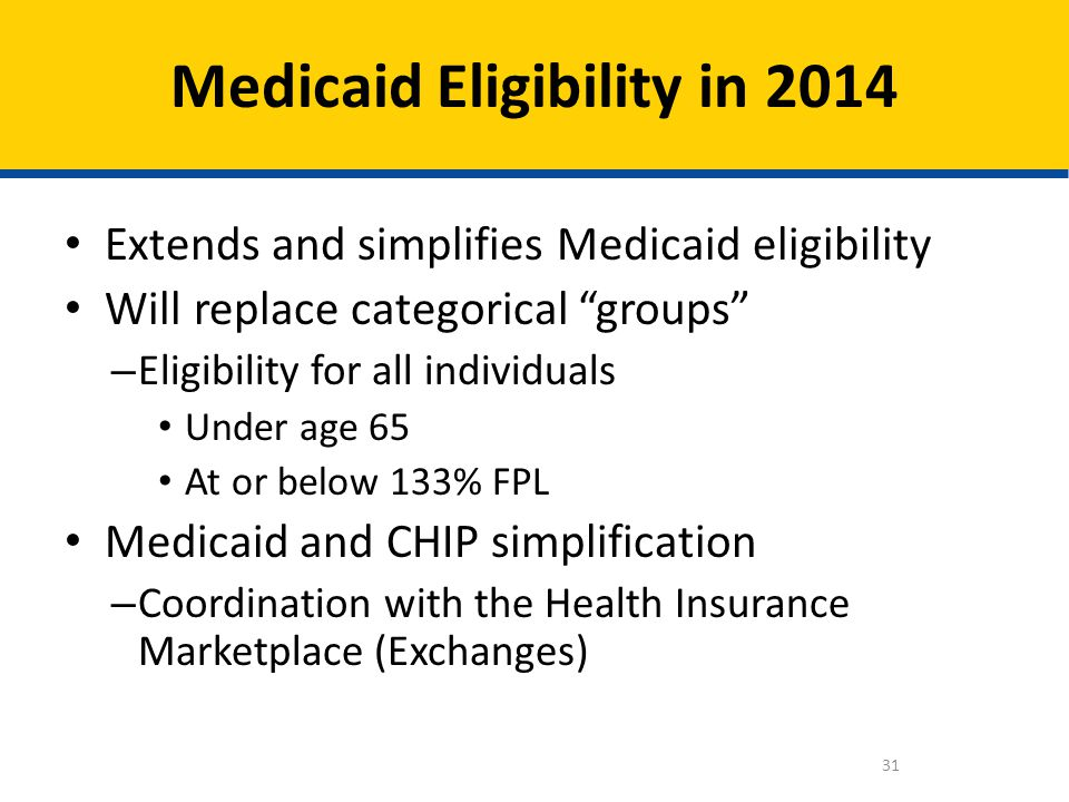 Medicaid Eligibility in 2014