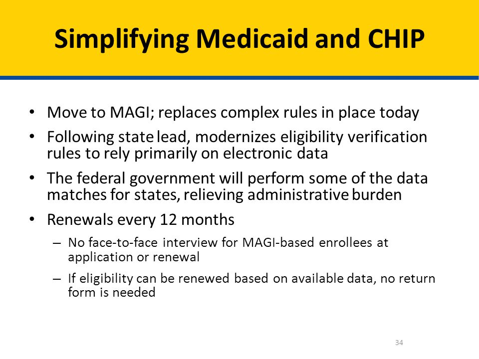 Simplifying Medicaid and CHIP