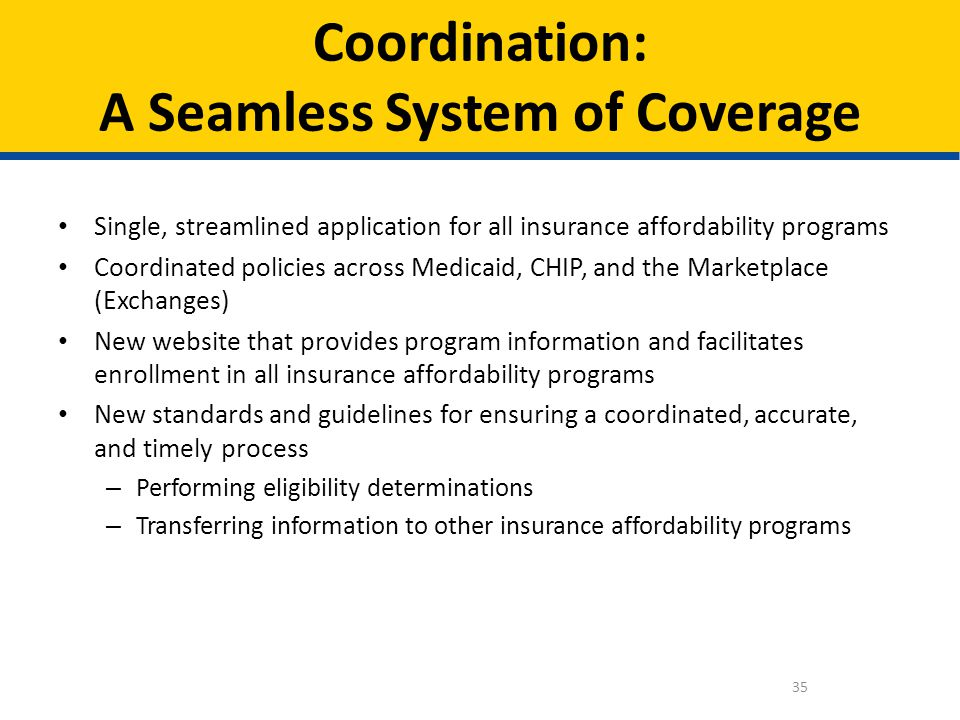 Coordination: A Seamless System of Coverage