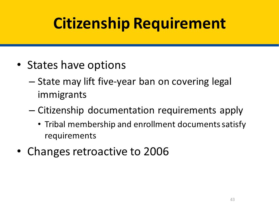 Citizenship Requirement
