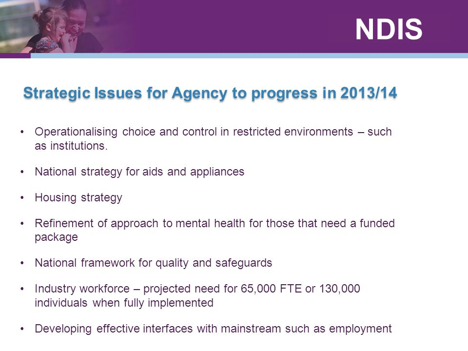 Strategic Issues for Agency to progress in 2013/14