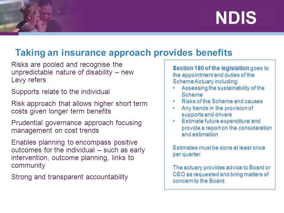 Taking an insurance approach provides benefits