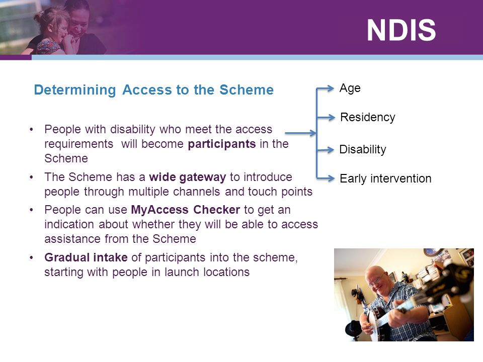Determining Access to the Scheme