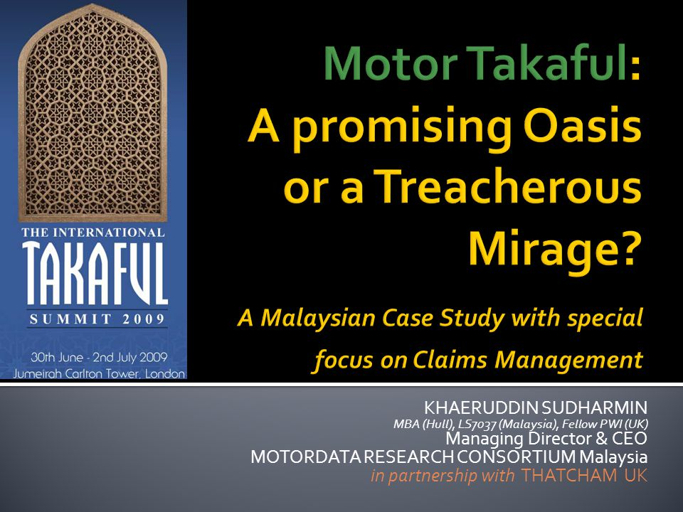 Motor Takaful: A promising Oasis or a Treacherous Mirage