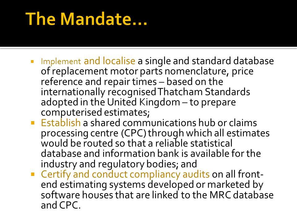 The Mandate…