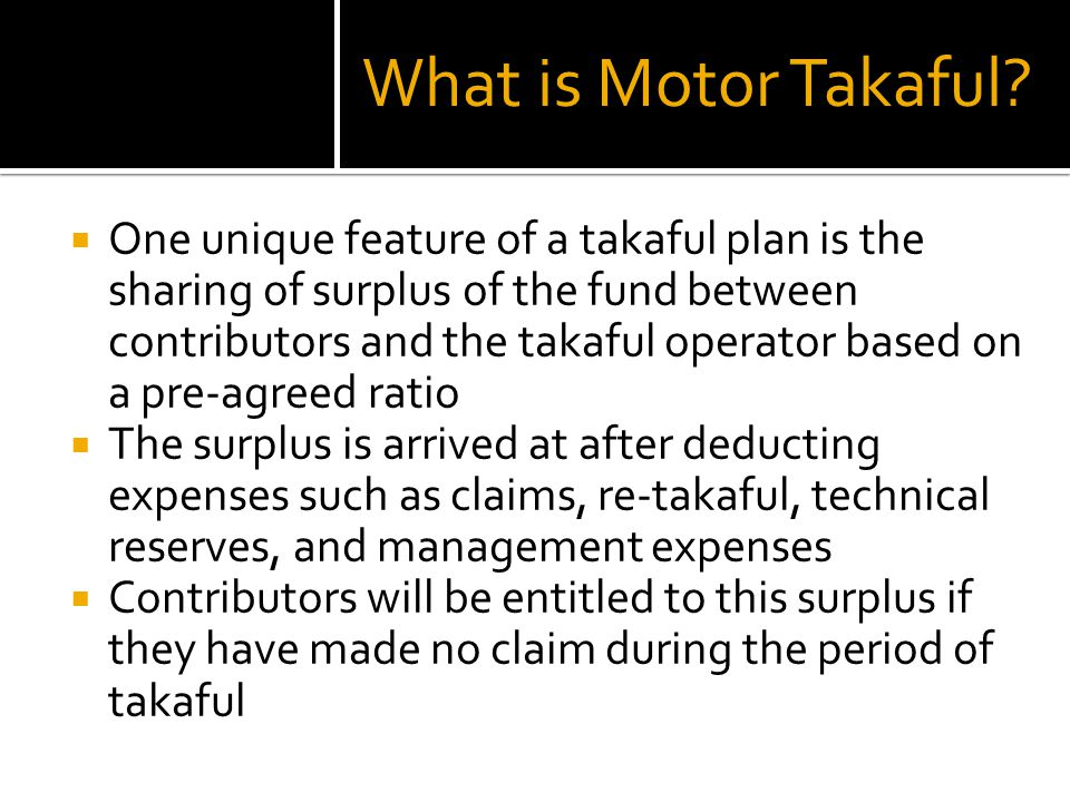 What is Motor Takaful