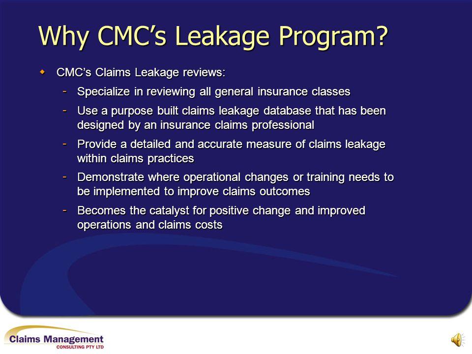 Why CMC's Leakage Program