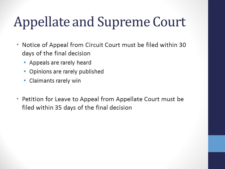 Appellate and Supreme Court