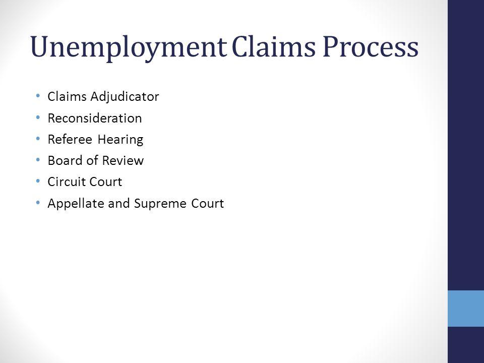Unemployment Claims Process