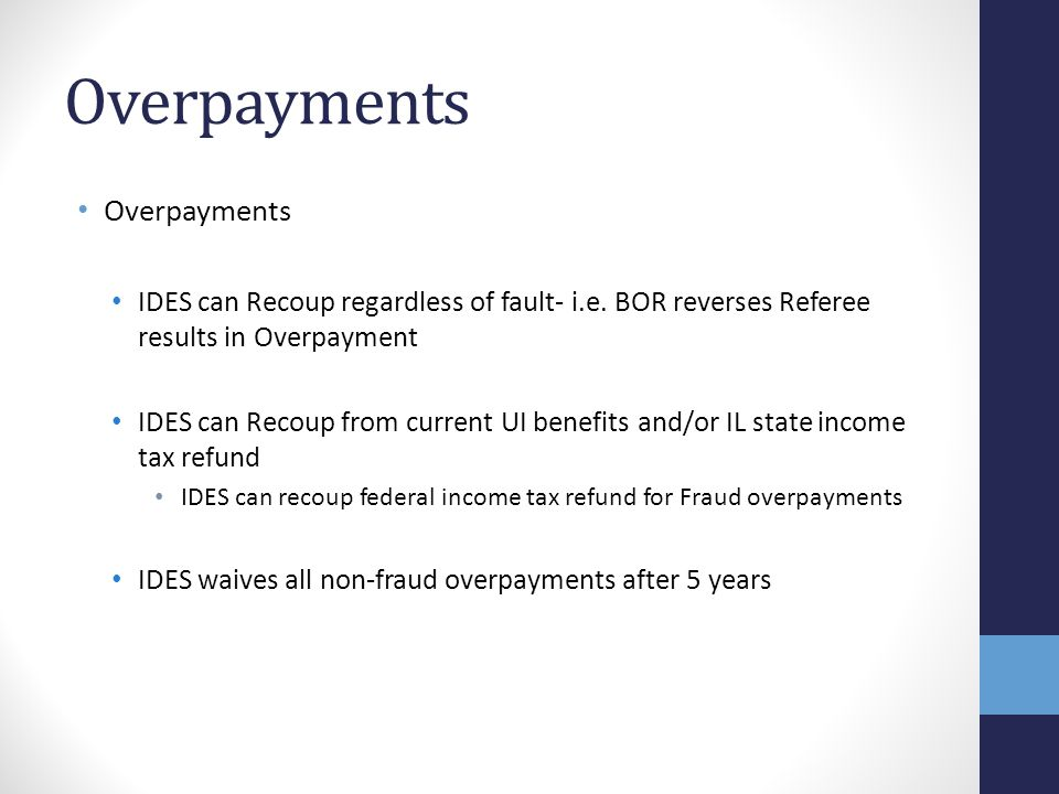 Overpayments Overpayments
