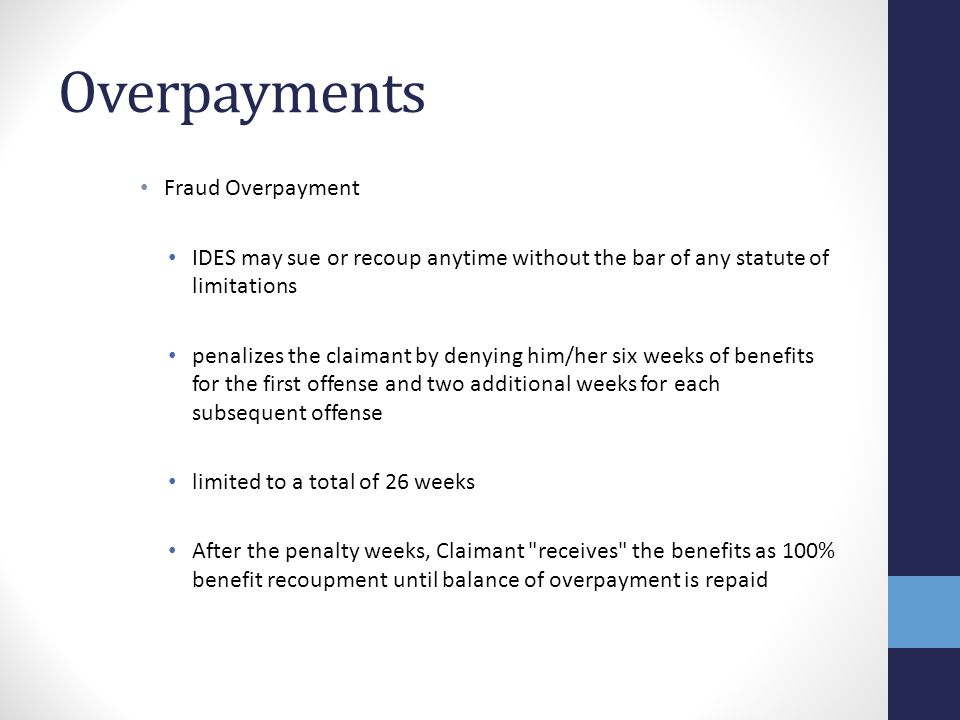 Overpayments Fraud Overpayment