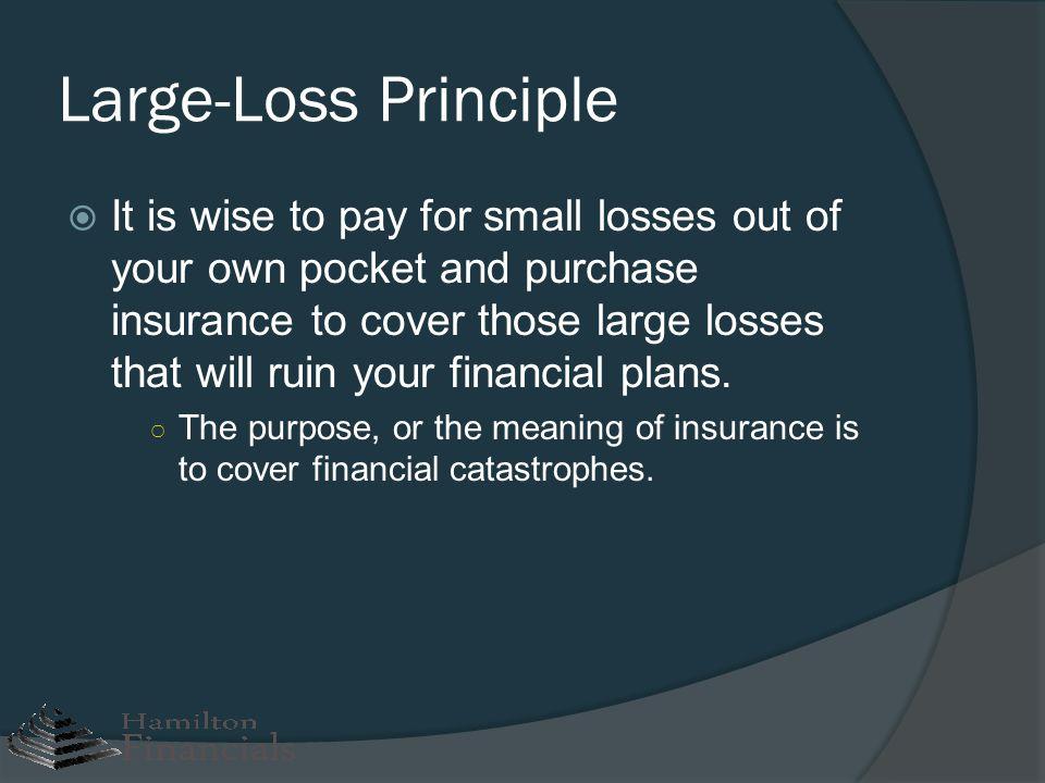 Large-Loss Principle