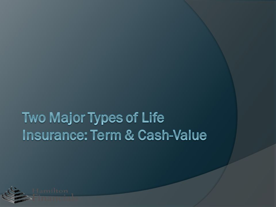 Two Major Types of Life Insurance: Term & Cash-Value