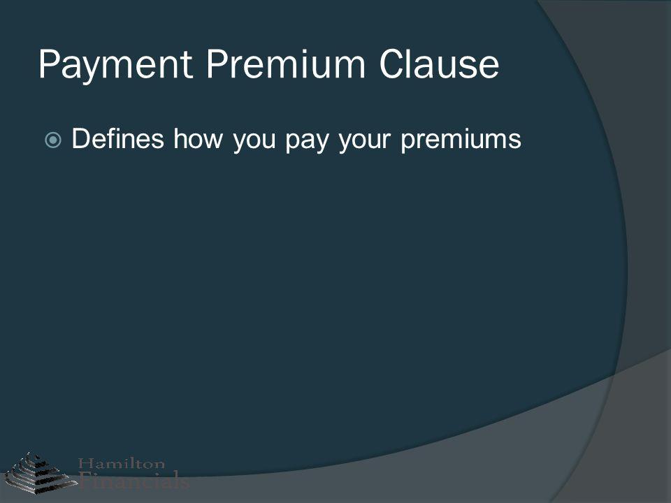 Payment Premium Clause