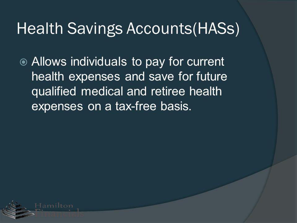 Health Savings Accounts(HASs)