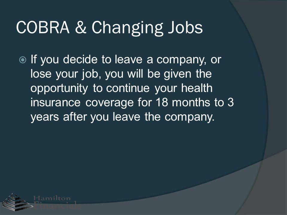 COBRA & Changing Jobs