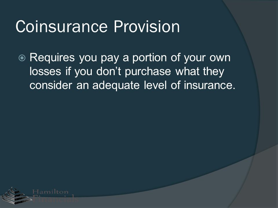 Coinsurance Provision