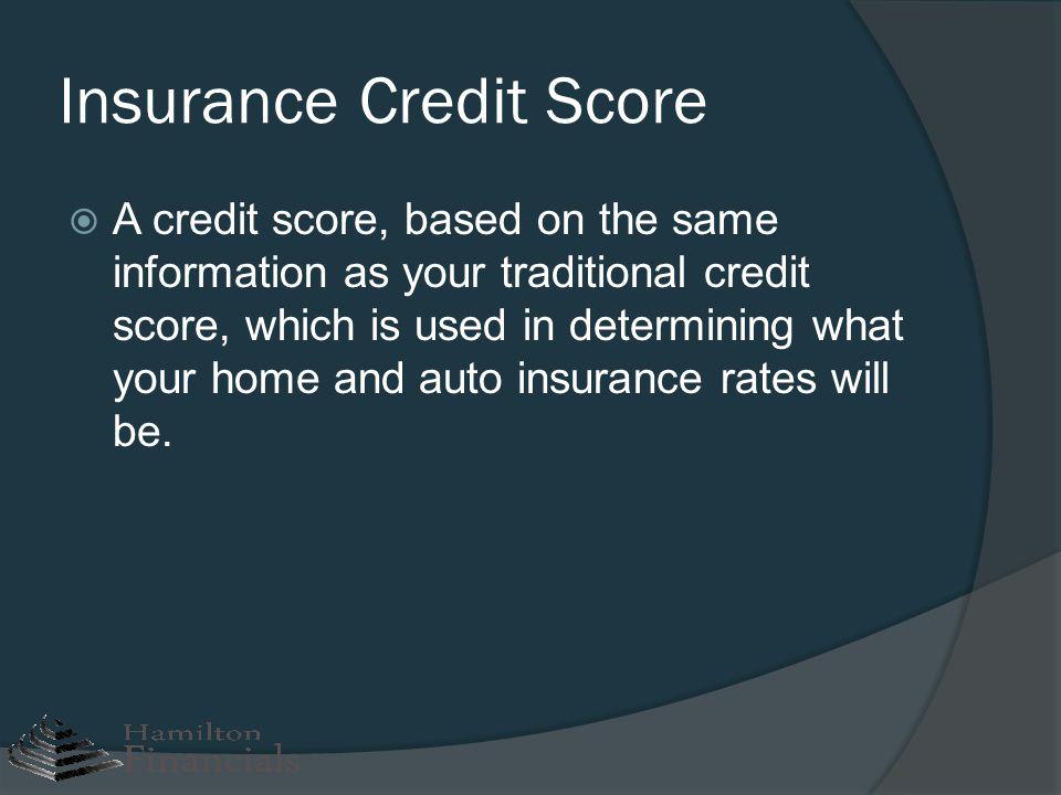 Insurance Credit Score