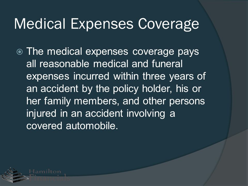 Medical Expenses Coverage