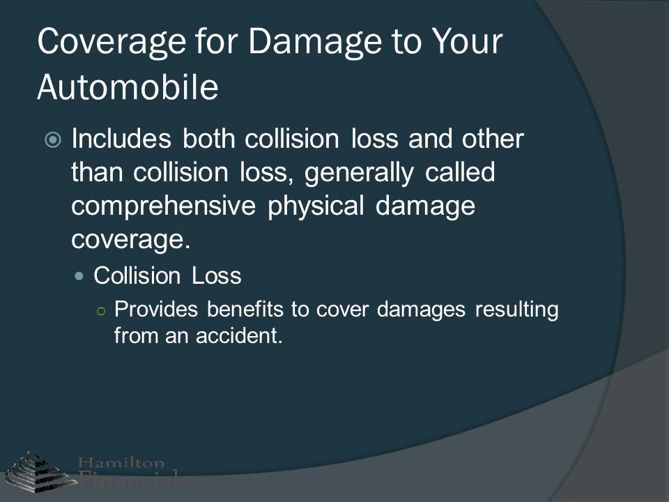 Coverage for Damage to Your Automobile