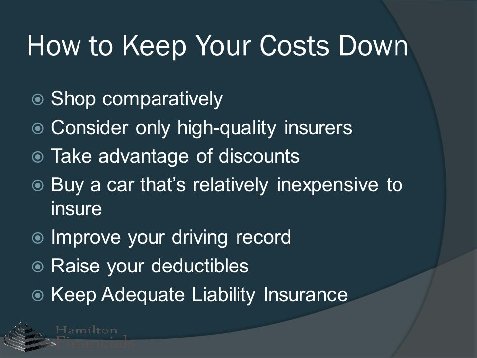 How to Keep Your Costs Down