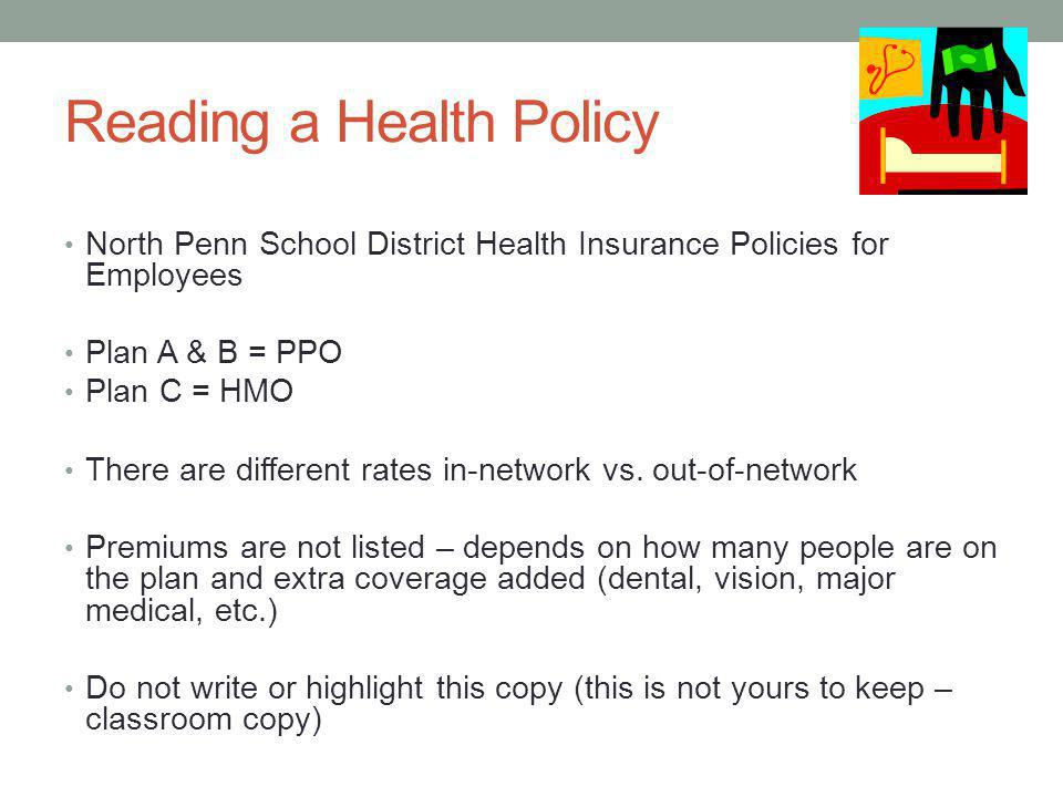 Reading a Health Policy