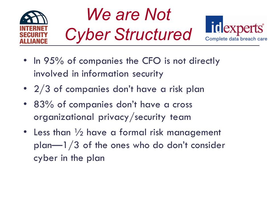 We are Not Cyber Structured