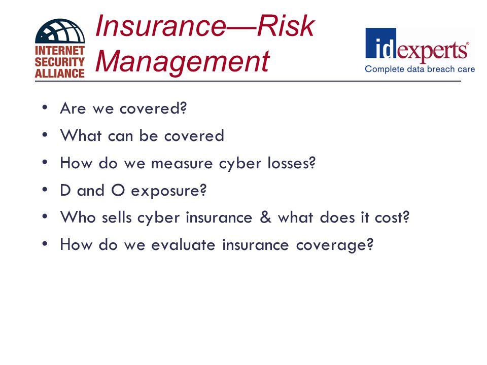 Insurance—Risk Management