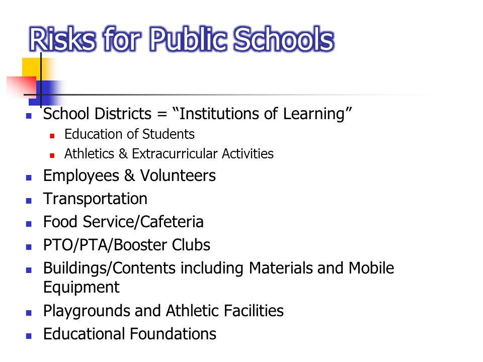Risks for Public Schools