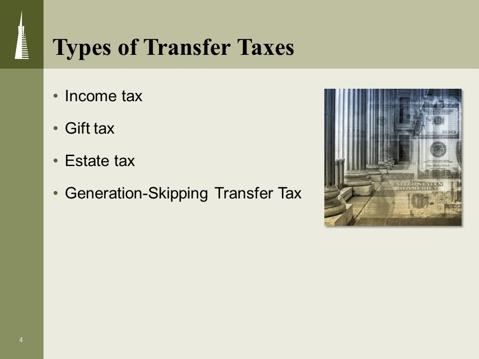 Types of Transfer Taxes