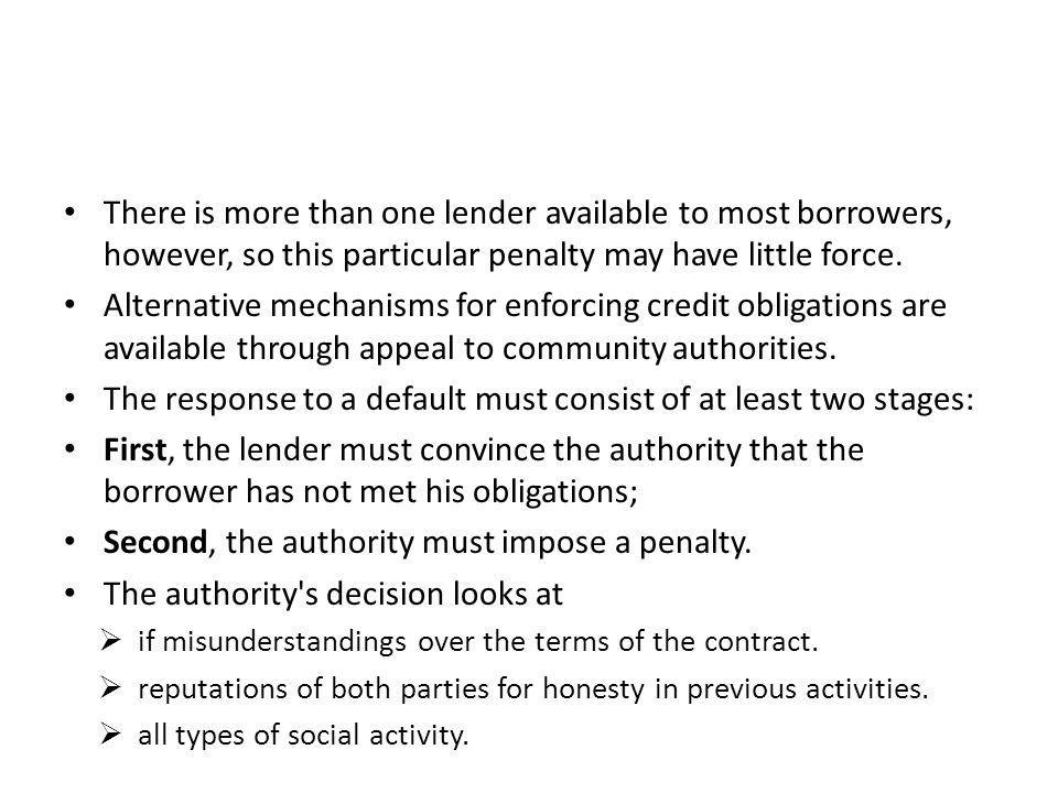 The response to a default must consist of at least two stages: