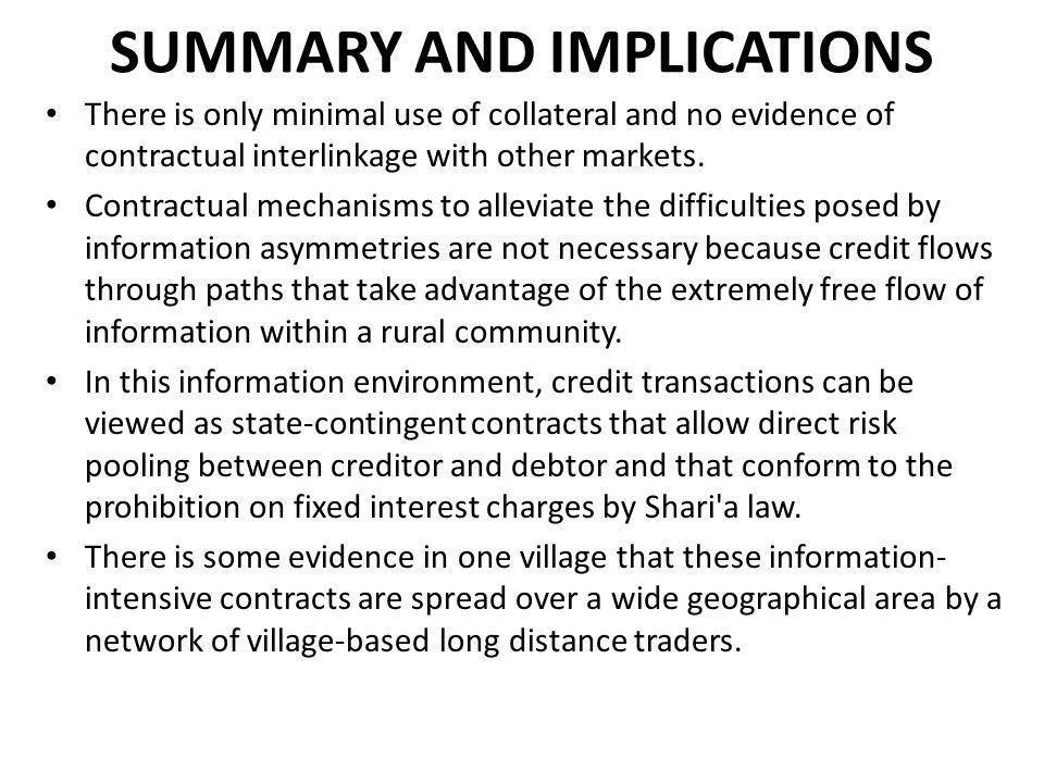 SUMMARY AND IMPLICATIONS
