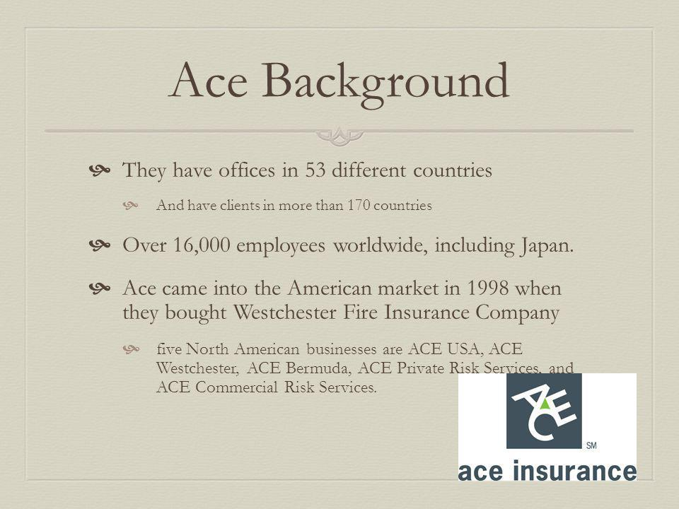 Ace Background They have offices in 53 different countries