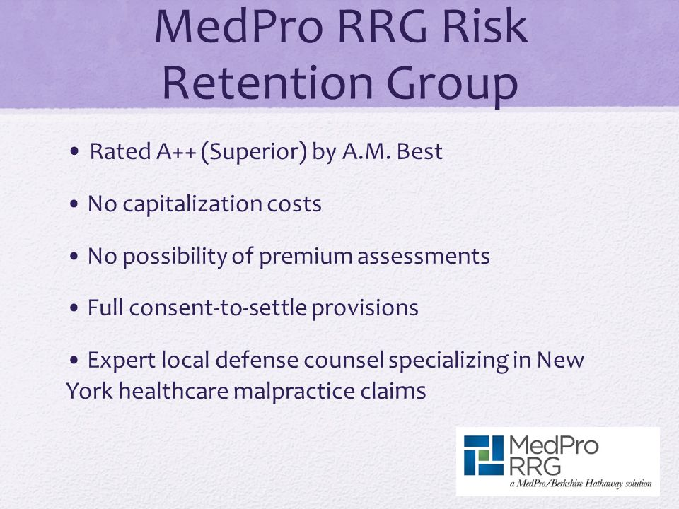 MedPro RRG Risk Retention Group