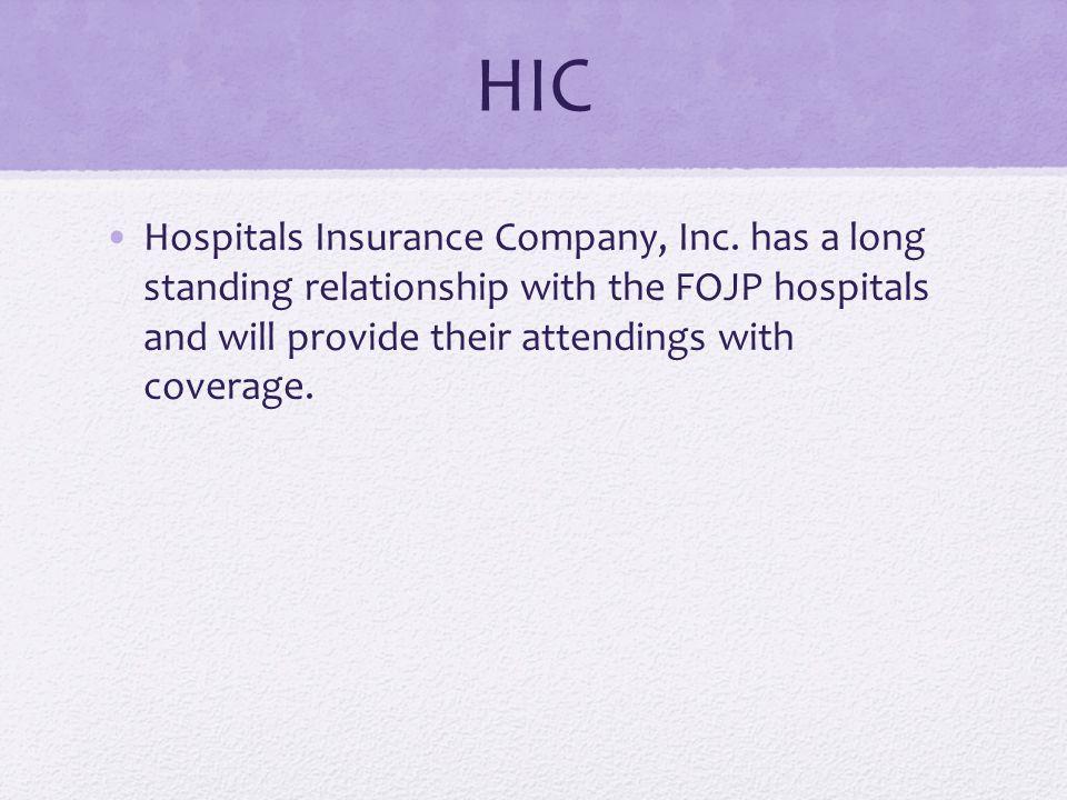 HIC Hospitals Insurance Company, Inc.